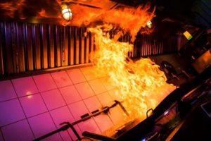 brand i køkkenet